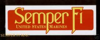 SEMPER FI US MARINES SEMPER FIDELIS BUMPER STICKER PIN