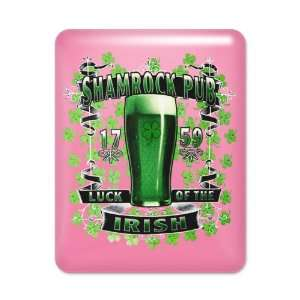 iPad Case Hot Pink Shamrock Pub Luck of the Irish 1759 St