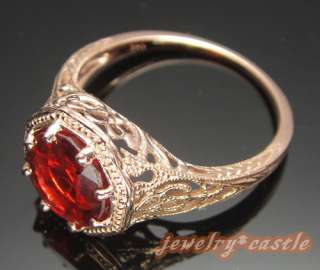 14K ROSE GOLD 8MM ROUND ENGAGEMENT WEDDING ENGRAVING SEMI MOUNT RING