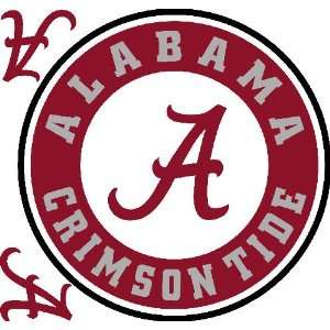 Alabama Crimson Tide Logo Sticker:  Home & Kitchen