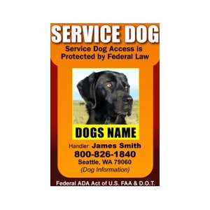 SERVICE DOG ID Badge   1 Dogs Custom ID Badge   Design#3