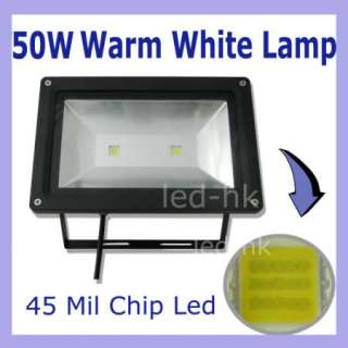 1pc Outdoor 2 Led Cool White Flood Light Waterproof IP67 Garden 50Watt