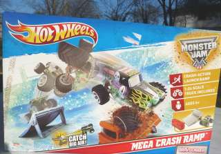 Monster Jam Grave Digger Truck & Mega Crash Ramp launch New playset