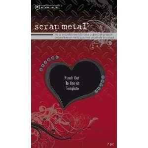 Autumn Leaves Scrapmetal Embellishments Jumbo Black Heart