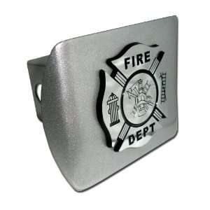 Fire Department Firefighter Brushed Silver with Chrome Plated Maltese