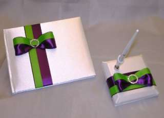 ELEGANT CUSTOM MADE WEDDING CARD BOX GUEST BOOK/PEN SET