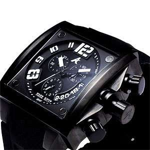 NEW ADEE KAYE MENS PERSONA COLLECTION BLACK DIAL SQUARE QUARTZ WATCH