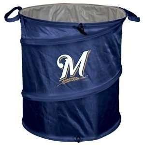 Milwaukee Brewers Light Duty Trashcan:  Sports & Outdoors