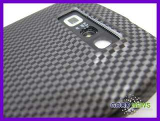 Carbon Fiber Rubberized Hard Case Cover for Straight Talk Nokia E71
