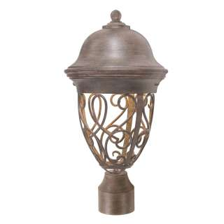 Outdoor Post Lamp Lighting Fixture, Bronze, Energy Star, Dark Sky
