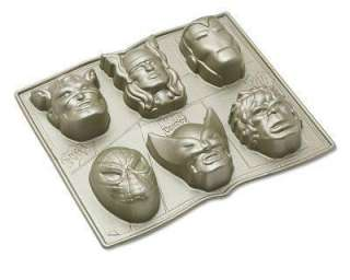 Marvel Avengers Cakelet Mini Cake Pan 6 Captain America Thor Iron Man