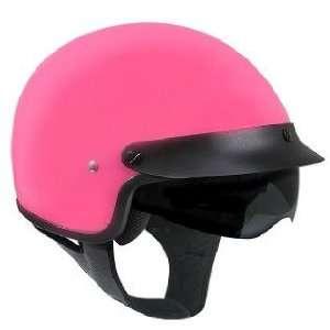 Outlaw V558 Pink Glossy Dual Visor Motorcycle Half Helmet