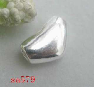 ASSORTED 925 Sterling Silver love heart charms Pendant BEADS FIT