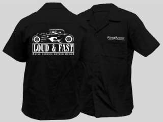 NEW MENS ROCKABILLY WORKSHIRT HOTROD LOUD HOT ROD SHIRT