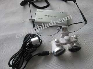 5x Dental Surgical Binocular Loupes + LED Head Light lamp A