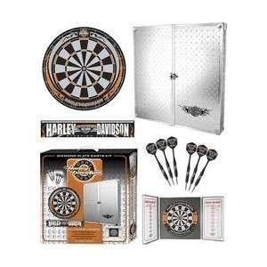 Harley Davidson Diamond Plate Dart Board Cabinet Kit