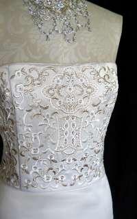 NWT Jessica McClintock Ivory Wedding Gown Dress Size 12
