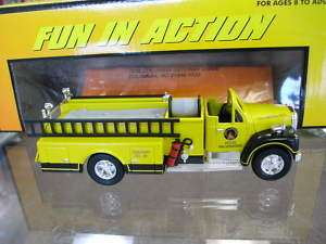 MTH Rail King Die Cast Fire Truck   MTH FD Yellow