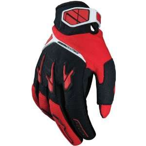 Industries Drako Mens Dirt Bike Motorcycle Gloves   Red/Black / Small