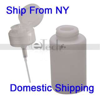 Pump Dispenser Nail Art Tip Cleaner Bottle Makeup New