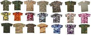 Camouflage Camo Army Military T Shirts Tees Tee Shirts