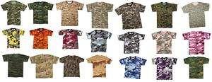 Camouflage Camo Army Military T Shirts Tees Tee Shirts