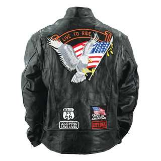 Mens Black Buffalo Genuine Leather Motorcycle Scooter Jacket Chaps