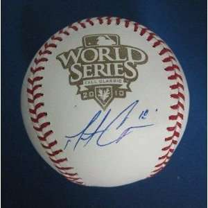 Matt Cain Signed Ball   2010 World Series PSA DNA