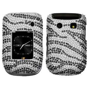 Zebra Skin Diamante Protector Cover for RIM BlackBerry 9670 (Style