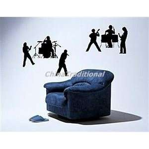DIY Home Decor Musical PVC Wall Decal Sticker Black