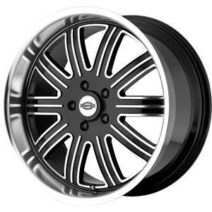 New 18X9 5 115 Springdale Black Machined Face Wheels/Rims