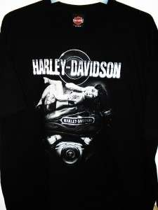 NWT Mens Harley Davidson Dark Tattoo Reflective Ink Short Sleeve T