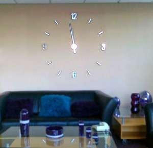 French Mirrored Frameless Large Wall Clock DIY Your Own Style