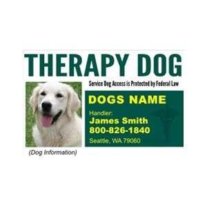 THERAPY DOG ID Badge   1 Dogs Custom ID Badge   Design#5