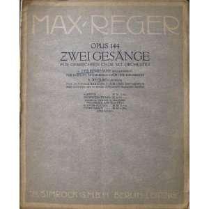 Chor und Orchester  Partitur, etc. no. 1: Max Reger: Books