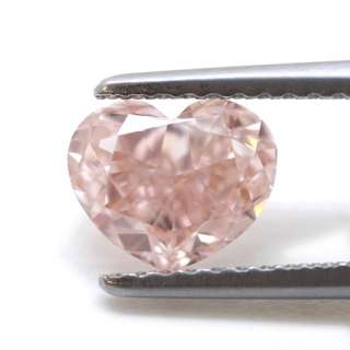 50Ct Natural Loose Heart Diamond Fancy Orangy Pink Color