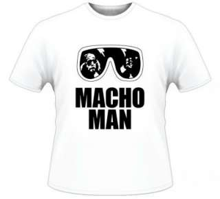 Macho Man Randy Savage T Shirt White All Sizes