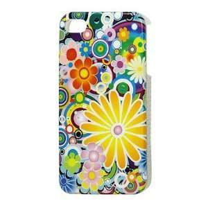 Gino Multicolor Flowers Pattern IMD Hard Case Cover Shell