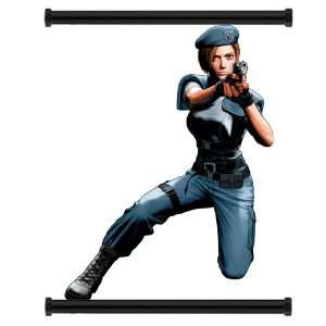 Resident Evil Game Jill Valentine Fabric Wall Scroll