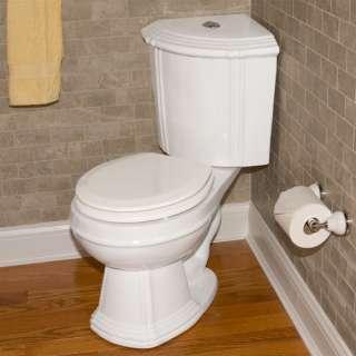 Barnum Dual Flush Corner Toilet With Seat White