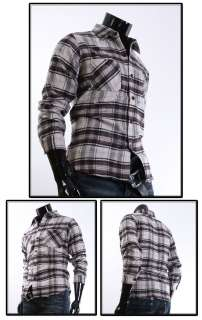 Mens Casual Long Sleeve Check Shirts Wear CH0902.sz.L