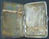 ANTIQUE SILVER PLATE CIGARETTE CASE BOX x