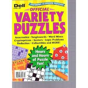 Dell Variety Puzzles (Featuring 13 sudoku puzzles, March