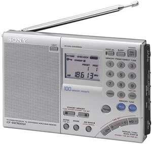Sony ICF SW7600GR Multi Band World Receiver Radio 027242580084