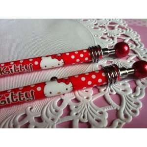 Hello Kitty   red dot pattern mechanical pencil pen: Toys & Games