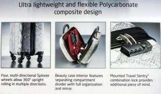New Samsonite SNAKE SKIN 2 pc Luggage Set Spinner Wheeled Carry On