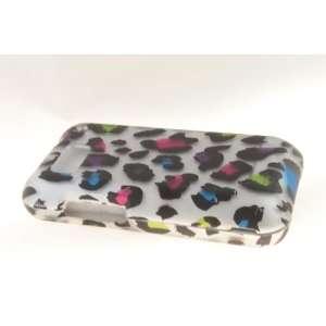 Motorola Defy MB525 Hard Case Cover for Colorful Leopard