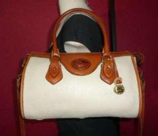 & Bourke Ivory Tan Leather Medium Satchel Case Cross Body Bag
