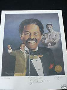 Billy Eckstein Jazz Hall of Fame Lithograph Limited Ed. w/COA