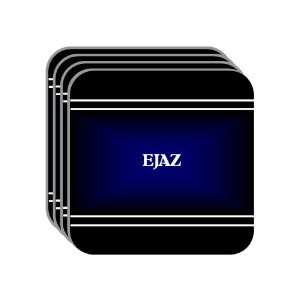 Personal Name Gift   EJAZ Set of 4 Mini Mousepad Coasters (black